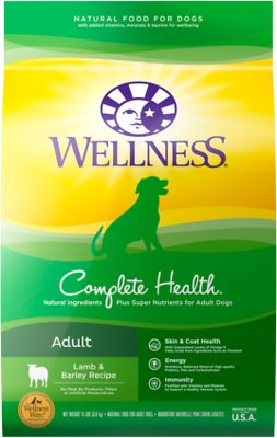 5. Wellness Complete Health Adult Lamb & Barley Recipe Dry Dog Food