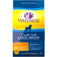 Wellness Large Breed Complete Health Puppy Deboned Chicken, Brown Rice & Salmon Meal Recipe Dry Dog Food, 30-lb bag