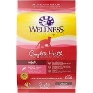 Wellness Complete Health Adult Health Salmon, Salmon Meal & Deboned Turkey Recipe Dry Cat Food, 12-lb bag