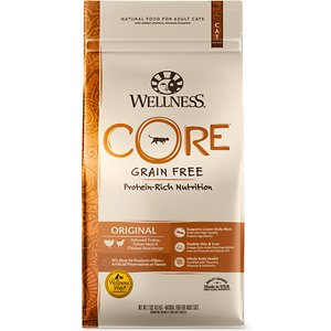 Wellness Core Grain-Free Original Formula Dry Cat Food, 2-lb bag