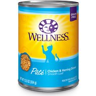 Wellness Complete Health Chicken & Herring Formula Grain-Free Canned Cat Food, 12.5-oz, case of 12
