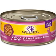 Wellness Complete Health Chicken & Lobster Formula Canned Cat Food, 5.5-oz, case of 24