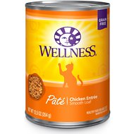 Wellness Complete Health Pate Chicken Entree Grain-Free Canned Cat Food, 12.5-oz, case of 12