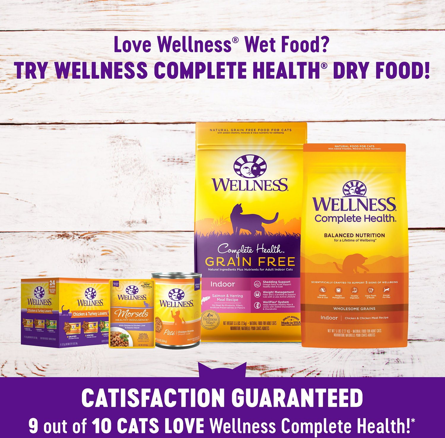 Wellness Complete Health Pate Chicken Entree Grain Free Canned Cat Food