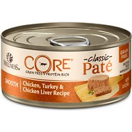 Wellness CORE Grain-Free Chicken, Turkey & Chicken Liver Formula Canned Cat Food, 5.5-oz, case of 24