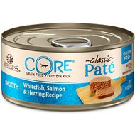 Wellness CORE Grain-Free Salmon, Whitefish & Herring Pate Canned Kitten & Cat Food, 5.5-oz, case of 24
