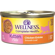 Wellness Complete Health Kitten Formula Grain-Free Canned Cat Food, 3-oz, case of 24