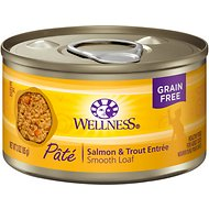 Wellness Complete Health Salmon & Trout Formula Canned Cat Food, 3-oz, case of 24