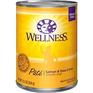 Wellness Complete Health Salmon & Trout Formula Canned Cat Food, 12.5-oz, case of 12
