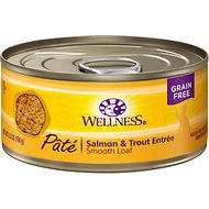 Wellness Complete Health Salmon & Trout Formula Canned Cat Food, 5.5-oz, case of 24