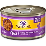 Wellness Complete Health Turkey & Salmon Formula Grain-Free Canned Cat Food, 3-oz, case of 24