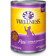 Wellness Complete Health Turkey & Salmon Formula Grain-Free Canned Cat Food, 12.5-oz, case of 12