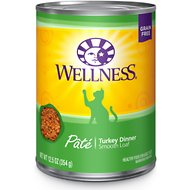 Wellness Complete Health Turkey Formula Grain-Free Canned Cat Food, 12.5-oz, case of 12