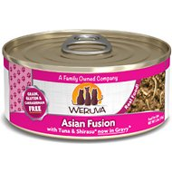 Weruva Asian Fusion with Tuna & Shirasu Grain-Free Canned Cat Food, 5.5-oz, case of 24
