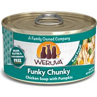Weruva Funky Chunky Chicken Soup with Pumpkin Grain-Free Canned Cat Food, 3-oz, case of 24