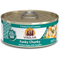Weruva Funky Chunky Chicken Soup with Pumpkin Grain-Free Canned Cat Food, 5.5-oz, case of 24