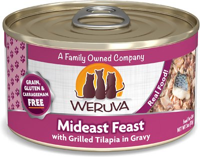 3. Weruva Mideast Feast with Grilled Tilapia in Gravy