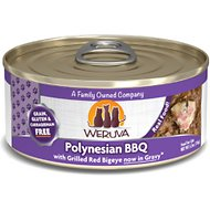 Weruva Polynesian BBQ with Grilled Red Bigeye Grain-Free Canned Cat Food, 5.5-oz, case of 24