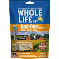 Whole Life Just One Ingredient Pure Chicken Breast Freeze-Dried Dog Treats, 4-oz bag