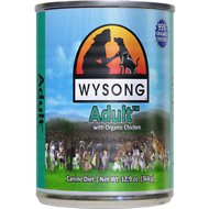 Wysong Adult with Organic Chicken Canned Dog Food, 12.9-oz, case of 12
