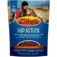 Zuke's Hip Action Peanut Butter & Oats Recipe Dog Treats, 1-lb bag