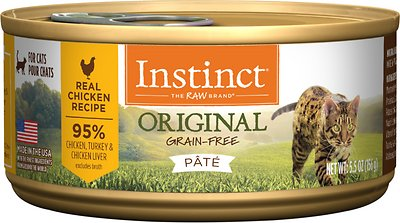 2. Instinct Original Grain-Free Pate Real Chicken Recipe Wet Canned Cat Food