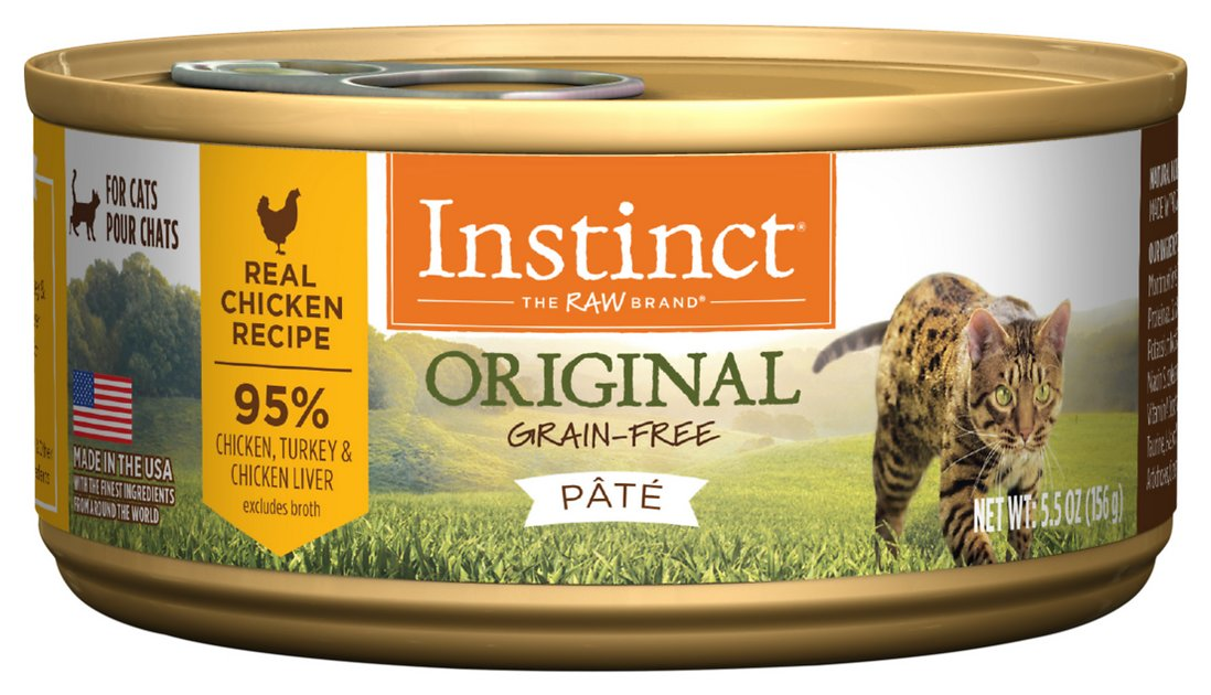 5. Instinct Original Grain-Free Pate Real Chicken Recipe Wet Canned Cat Food