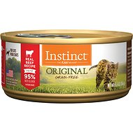 Instinct by Nature's Variety Original Grain-Free Real Beef Recipe Natural Wet Canned Cat Food, 5.5-oz, case of 12