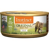 Instinct by Nature's Variety Original Grain-Free Real Venison Recipe Natural Wet Canned Cat Food, 5.5-oz, case of 12