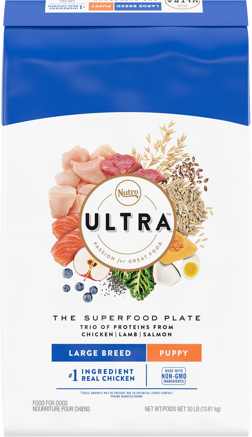 Nutro Ultra Dog Food >> Nutro Ultra Large Breed Puppy Dry Dog Food 30 Lb Bag Chewy Com