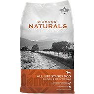 Diamond Naturals Chicken & Rice Formula All Life Stages Dry Dog Food, 40-lb bag
