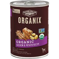 Castor & Pollux Organix Organic Chicken & Potato Recipe Adult Canned Dog Food, 12.7-oz, case of 12