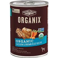 Castor & Pollux Organix Organic Chicken & Brown Rice Recipe Adult Canned Dog Food, 12.7-oz, case of 12