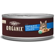 Castor & Pollux Organix Organic Turkey, Brown Rice & Chicken Recipe All Life Stages Canned Cat Food, 5.5-oz, case of 24