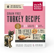 The Honest Kitchen Grain-Free Turkey Recipe Dehydrated Cat Food, 4-lb box