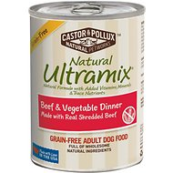 Castor & Pollux Natural Ultramix Beef & Vegetable Dinner Grain-Free Adult Canned Dog Food, 13-oz, case of 12