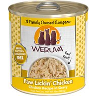 Weruva Paw Lickin' Chicken in Gravy Grain-Free Canned Cat Food, 10-oz, case of 12