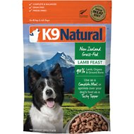 K9 Natural Lamb Feast Raw Grain-Free Freeze-Dried Dog Food, 1.1-lb bag