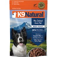 K9 Natural Beef Feast Raw Grain-Free Freeze-Dried Dog Food, 1.1-lb bag