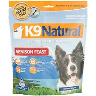K9 Natural Venison Feast Raw Grain-Free Freeze-Dried Dog Food, 1.1-lb bag
