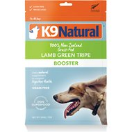 K9 Natural Lamb Green Tripe Booster Freeze-Dried Dog Food Topper, 7-oz bag