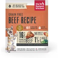 The Honest Kitchen Grain-Free Beef Recipe Dehydrated Dog Food, 10-lb box