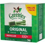 Greenies Regular Dental Dog Treats, 36 count