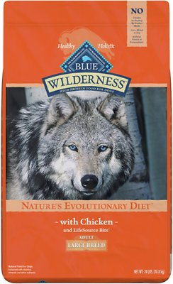 6. Blue Buffalo Wilderness Chicken Recipe Grain-Free Dry Dog Food