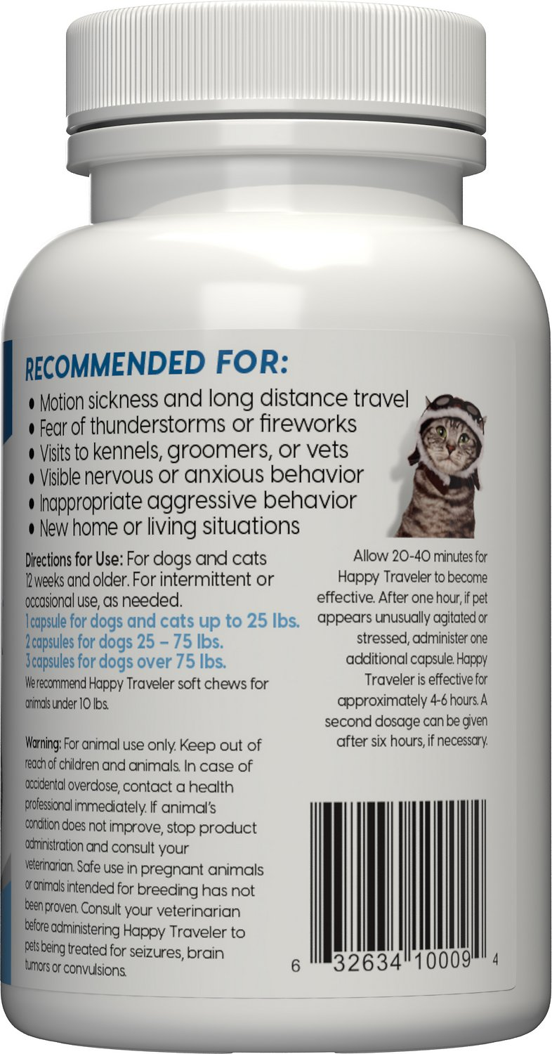 ark naturals happy traveler dog cat capsules 30 capsules chewy com