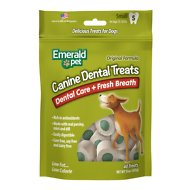Emerald Pet Canine Dental Treats Fresh Breath Formula Dog Treats, Small, 15-oz bag