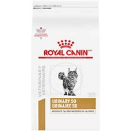 Royal Canin Veterinary Diet Urinary SO Moderate Calorie Dry Cat Food, 3.3-lb bag