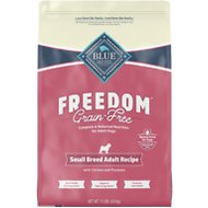 Blue Buffalo Freedom Small Breed Adult Chicken Recipe Grain-Free Dry Dog Food, 11-lb bag