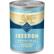 Blue Buffalo Freedom Puppy Chicken Recipe Grain-Free Canned Dog Food, 12.5-oz, case of 12