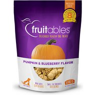 Fruitables Pumpkin & Blueberry Flavor Crunchy Dog Treats, 7-oz bag